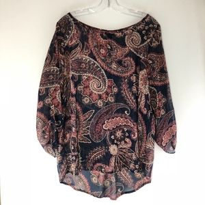 Papermoon for Stitch Fix Paisley Top Tunic Large
